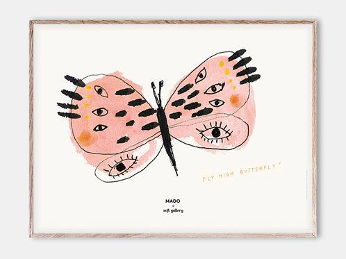 Paper Collective Poster MADO Kinder Bilderrahmen Rahmen Schmetterling