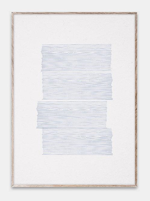 Paper Collective Poster Bilderrahmen Rahmen Blaue Linien Illustration