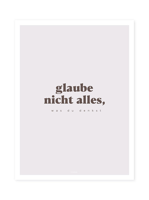 Glaube nicht alles Brown -Viewme Type Collection