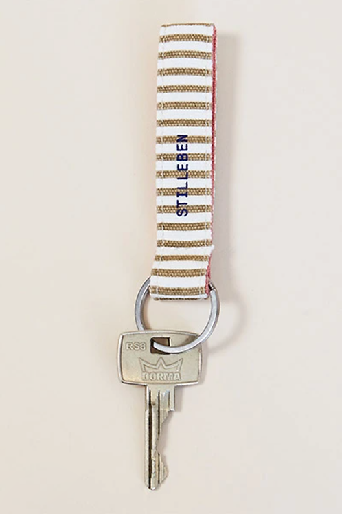 Stilleben - Schlüsselanhänger Key Chain Pinstripe Brown