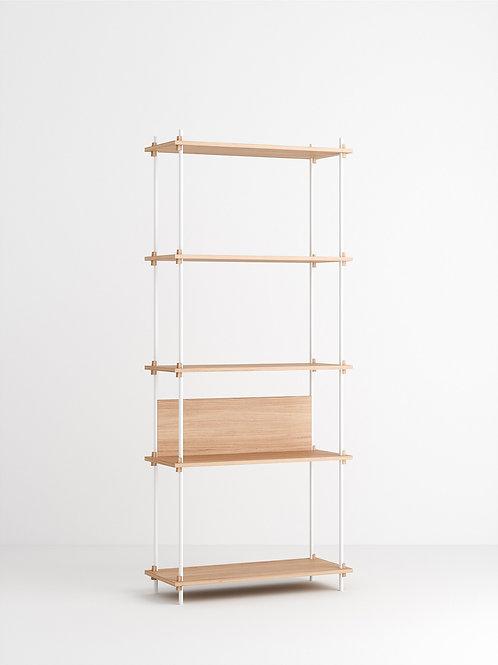 MOEBE Shelving System - Tall Single Eiche geölt Weiss