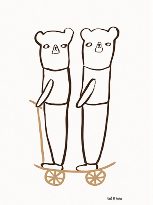 Happy Together Kinder A3 Poster - Ted & Tone