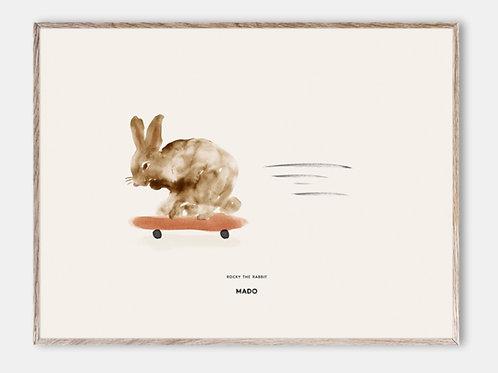 Paper Collective Poster MADO Kinder Bilderrahmen Rahmen Hase Rabbit