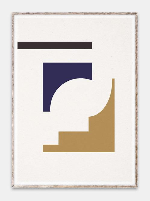 Paper Collective Poster Bilderrahmen Rahmen Geometry Illustration