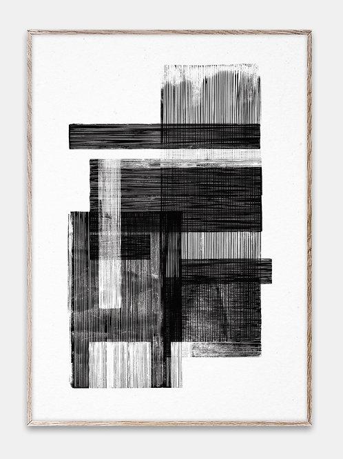 Paper Collective Poster Bilderrahmen Rahmen Lines Brush Illustration