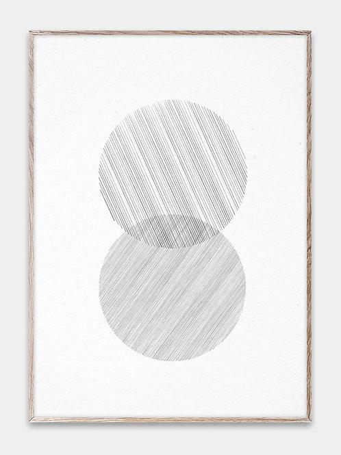 Paper Collective Poster Bilderrahmen Rahmen Lines Illustration