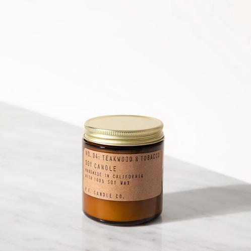 Candle Co. No. 4 Teakwood & Tobacco Small Duftkerze