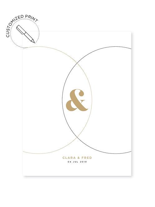 Personalisierter Print - Circles zur Hochzeit