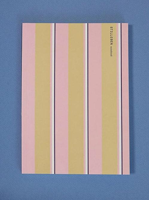 Stilleben - Notizbuch Stripy Pink