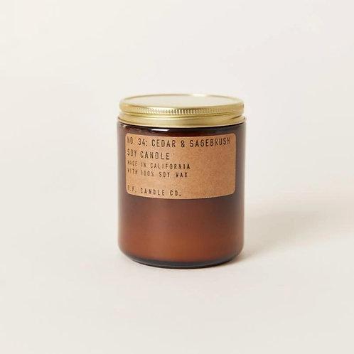 P.F. Candle Co. No. 34 Cedar & Sage Brush