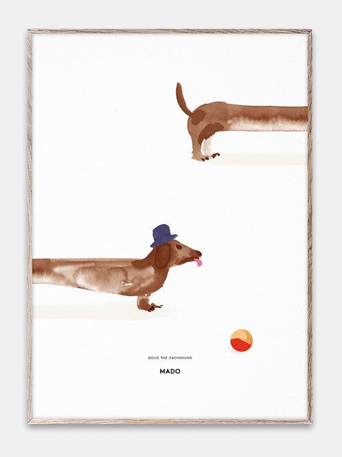 Paper Collective Poster MADO Kinder Bilderrahmen Rahmen Dackel Illustration