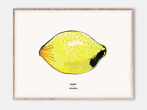 Paper Collective Poster MADO Kinder Bilderrahmen Rahmen Zitrone Illustration