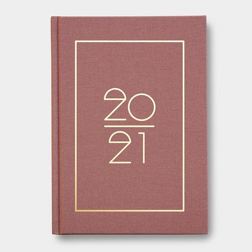 Navucko Hardcover Kalender Jahreskalender 2021 für Termine Dusty pink