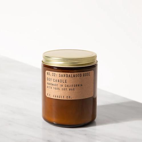 P.F. Candle Co. No. 32 Sandalwood Rose Duftkerze
