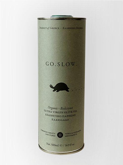 GoSlow Olivenöl Oliven Grüne Dose