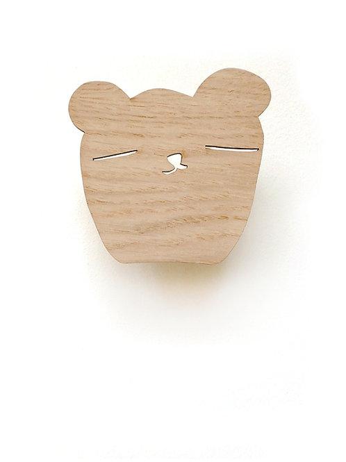 Wallhook Bear Holz - Ted & Tone