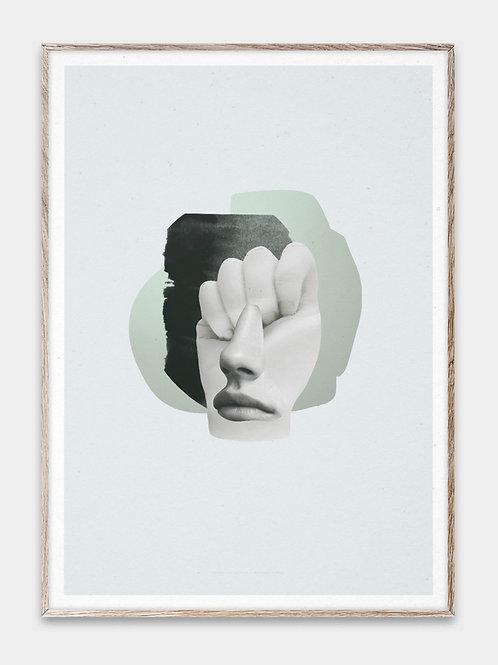 Paper Collective Poster Bilderrahmen Rahmen Hellblau  Illustration