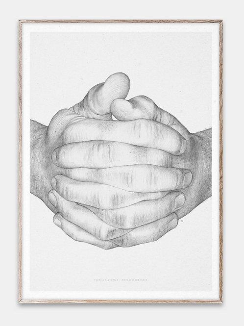 Paper Collective Poster Bilderrahmen Rahmen Hände Illustration