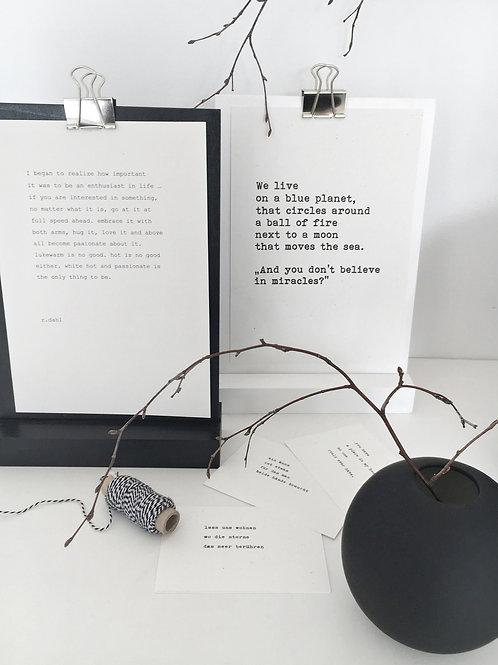 Vnf Handmade Eiche Schwarz Weiss Postkarten Halterung Dekoration
