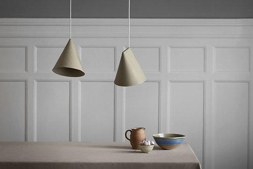 Moebe Ceramic Lamp - Wide Olive