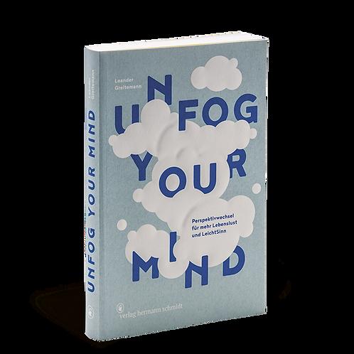 Unfog Your Mind Buch vom Hermann Schmidt Verlag in Hellblau