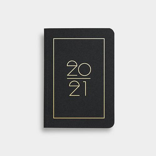 Navucko Pocket Kalender Jahreskalender 2021 für Termine Schwarz