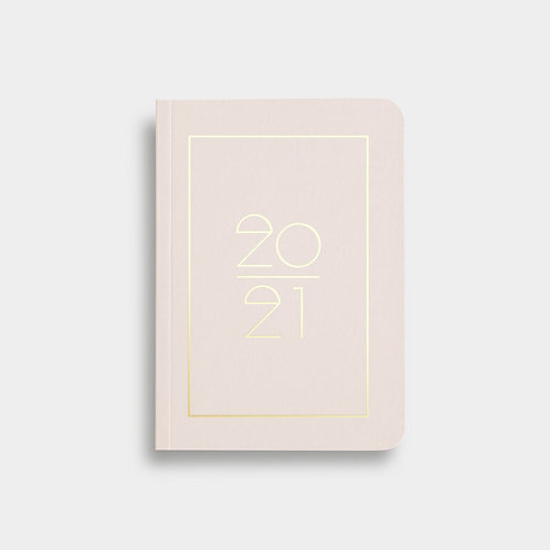 Navucko Pocket Kalender Jahreskalender 2021 für Termine Rosa Nude
