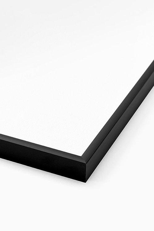Aluminium Bilderrahmen Schwarz Matt Format Rahmen Glas