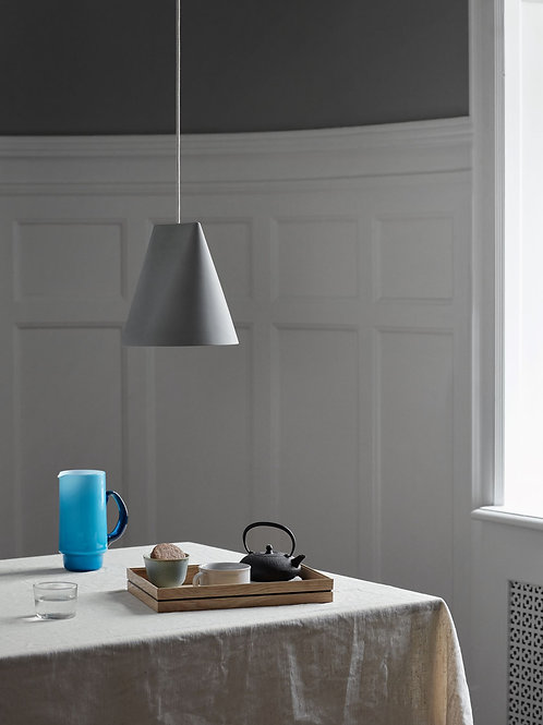 Moebe Ceramic Lamp - Wide Grey