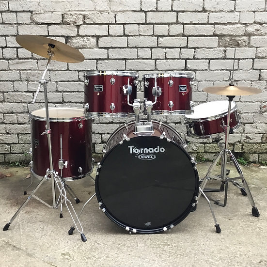 "Mapex Tornado 22"" Rock Kit Wine Red (Preowned)"