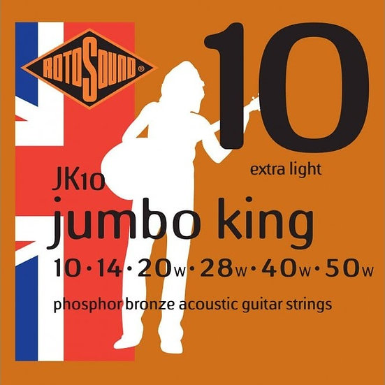 Rotosound Jumbo King 10-50 Acoustic Guitar Strings