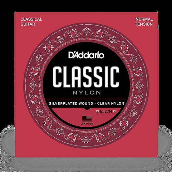 D'Addario EJ27N Classic Nylon Normal Tension Classical Guitar Strings