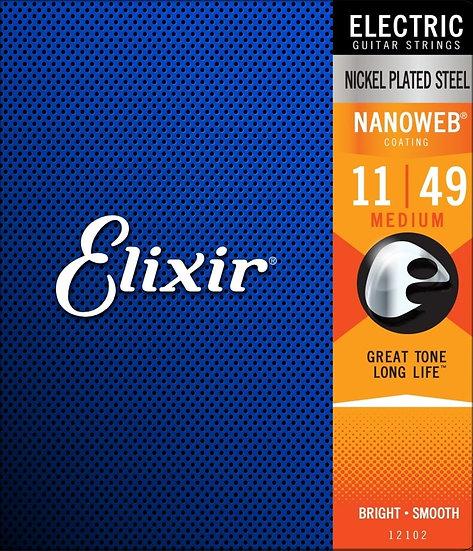 Elixir Nanoweb Nickel 11-49 Electric Guitar Strings