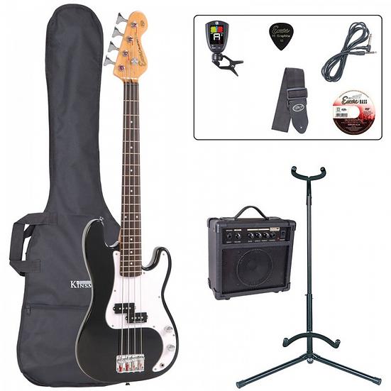 Encore E20 Short Scale 7/8 Size Bass Package