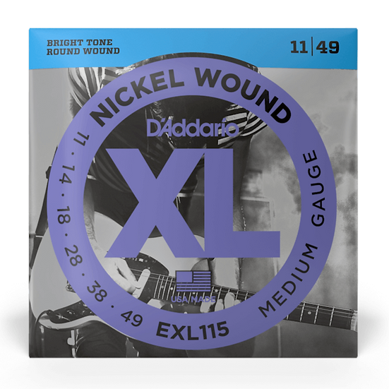 D'Addario EXL115 11-49 Electric Guitar Strings