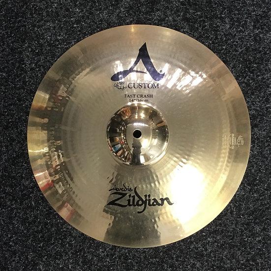 "Zildjian A Custom Fast Crash 14"" (Preowned)"