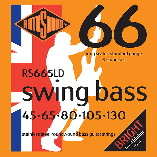 Rotosound RS665LD Roto Bass 5-String 45-130 Bass Strings