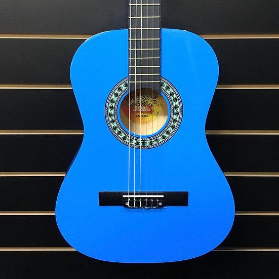 Encore 3/4 Size Classical Guitar Pack Blue