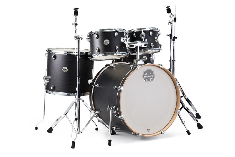 "Mapex Storm 22"" Rock Fusion Kit Ebony Grain (No Cymbals)"