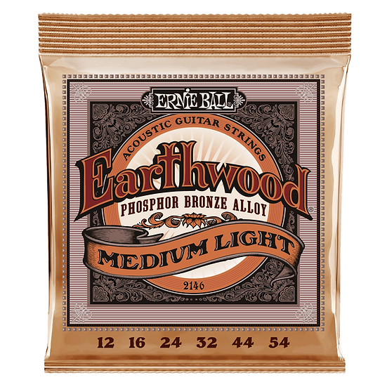 Ernie Ball Earthwood 12-54 Phospher Bronze Acoustic Guitar Strings