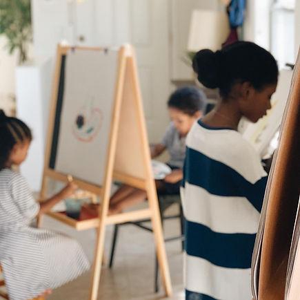 kids painting african american