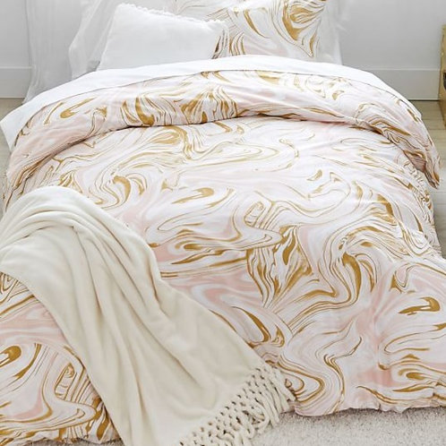 Marble Duvet Pink and Gold
