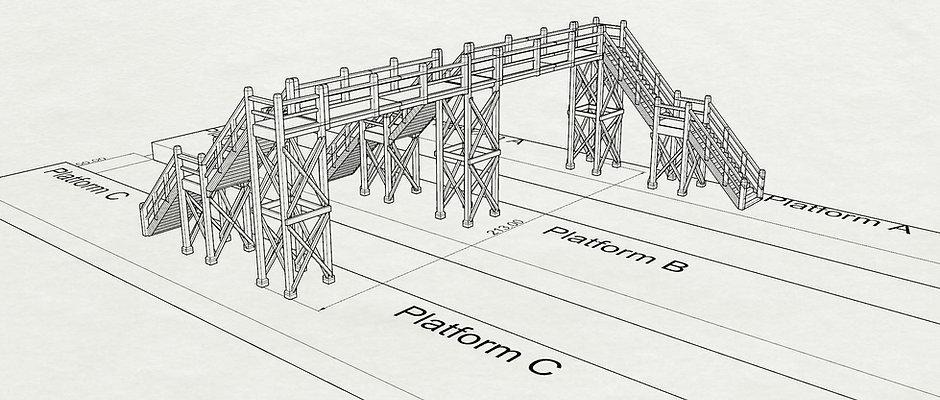 HO Modular Footbridge - Jim
