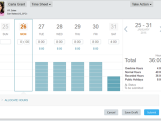 SuccessFactors Employee Central Time Sheet and Time Valuation