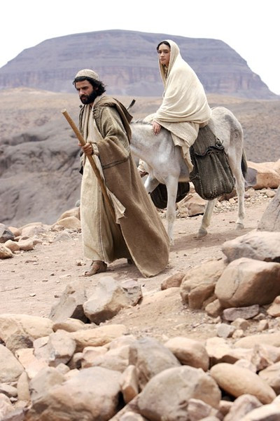 Joseph and Mary on their journey to Bethlehem