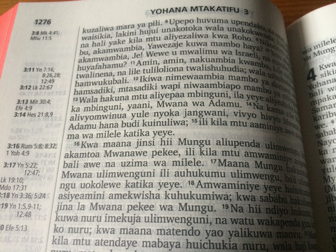 John 3:16 in Swahili
