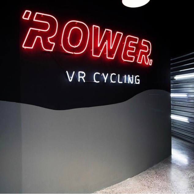 Neón personalizado para ROWER VR Cycling