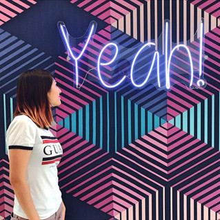YEAH! Photo Opportunity Neon Sign + Wallpaper