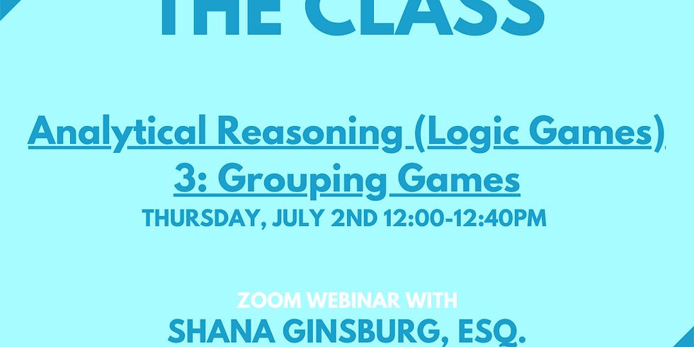 LSAT Boss Analytical Reasoning (Logic Games) 3: Grouping Games