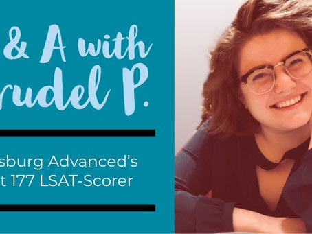 Q&A with Trudel P., Ginsburg Advanced's First 177 LSAT-Scorer